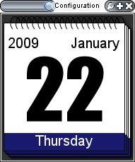 Calendar Widget in Widget Runner