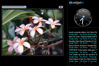 WidgetFX 1.0 on the Desktop