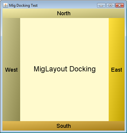 MigLayout Docking Test